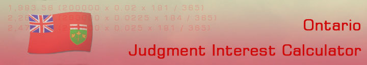 Judgment Interest Calculator: Pre-judgment, Post-judgment, Rent Loss Calculations for Ontario